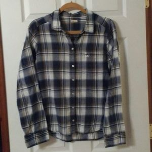 Hollister button-down flannel top